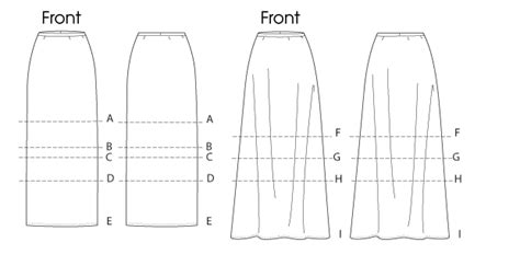 mccall s 6654 misses skirts in 7 lengths
