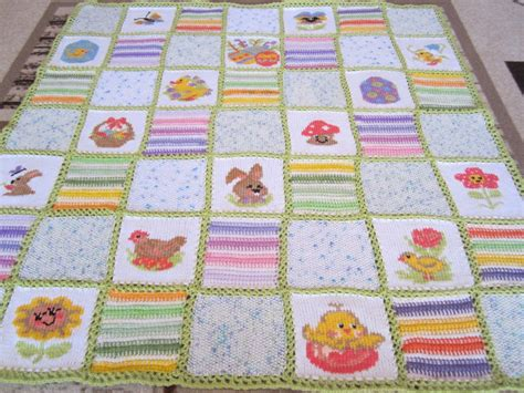Knitted Patchwork Quilt - knitted patchwork baby quilt driverlayer search engine