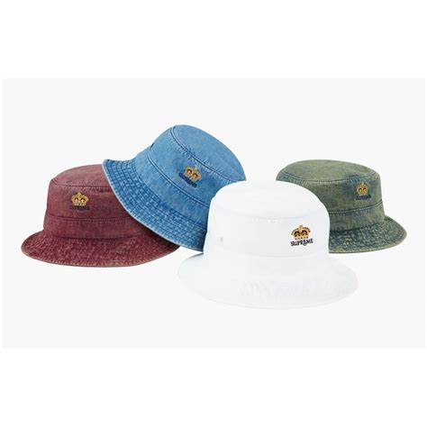 shop supreme hats supreme denim crusher hats collection multicolor