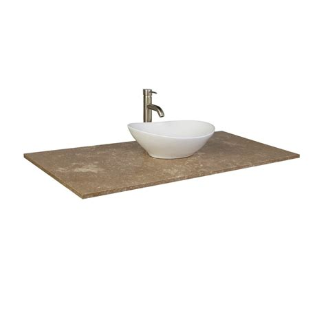 vessel sink vanity top for sale 49 quot x 22 quot beige travertine vanity top for vessel sink