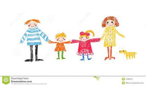 si鑒e enfant dessin d enfant de famille illustration de vecteur image