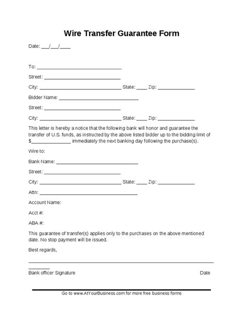 wire transfer form template sle money wire transfer forms hashdoc