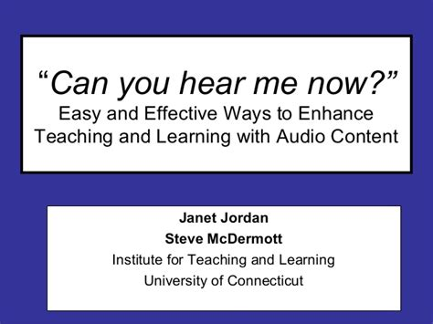 Can You Hear Me Now 2 by Can You Hear Me Now 2 25 09 Slideshare