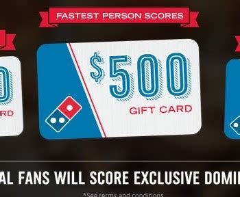 Win Domino S Gift Card - possible free domino s gift card 4 500 value