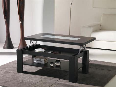 table basse noir 916 table basse relevable weng contemporaine alva