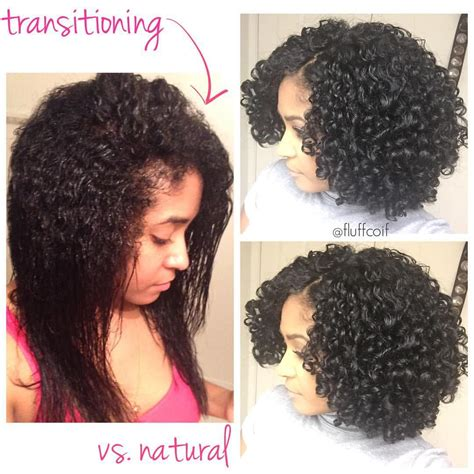 natural transitional hairstyle transitioning wash and go versus a fully natural wash and