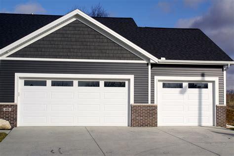 Long Panel Plain Glass Windows White Garage Door In Downs Adding Windows To Garage Door