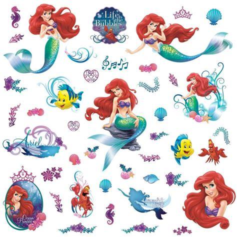 ariel wall stickers the mermaid 44 stickers great kidsbedrooms the children bedroom specialist
