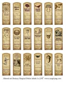 potion label template magic potion labels digital collage sheet 18 by