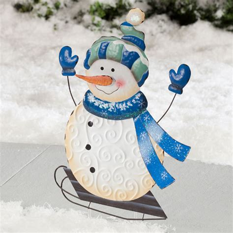 snowman garden flag outdoor decor christmas mileskimball