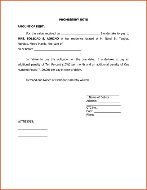 Sle Promissary Note Portablegasgrillweber Com Promissory Note With Personal Guarantee Template