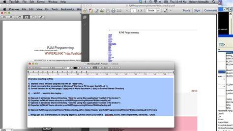 tutorial html mac pc html doc to pdf via mac textedit primer tutorial