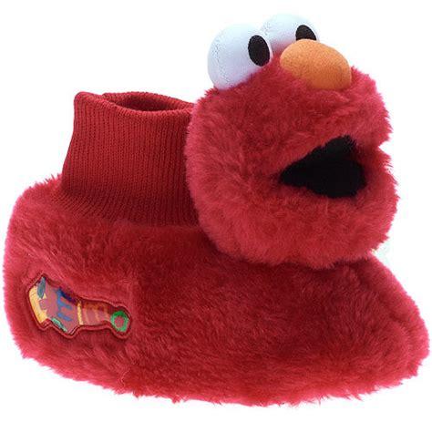 elmo slippers sesame toddler s elmo sock top slippers shoes