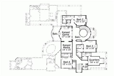 unique floor plan with central turret 23183jd 2nd 28 best floor plans images on pinterest house floor