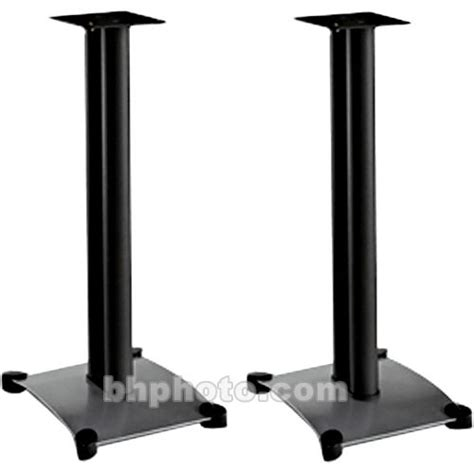 sanus steel series 30 quot bookshelf speaker stand sf30 b1 b h