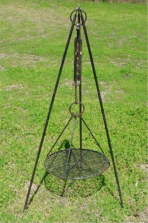 Tripod Grill tinker s forge forged iron for cing hardware gardening ornamental and museums