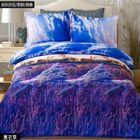 3d bedding 3d lavender bed sheet duvet cover pillowcase quilt cover bedding set queen size ebay