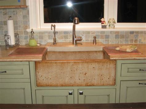 concrete countertops with farmhouse sink pin by debbie abbott on mexico house ideas