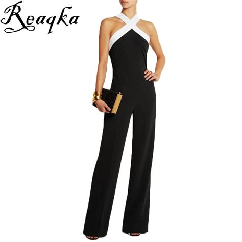 new women s jumpsuits shorts rompers halter top backless jumpsuits for women 2016 hot playsuit overall black white