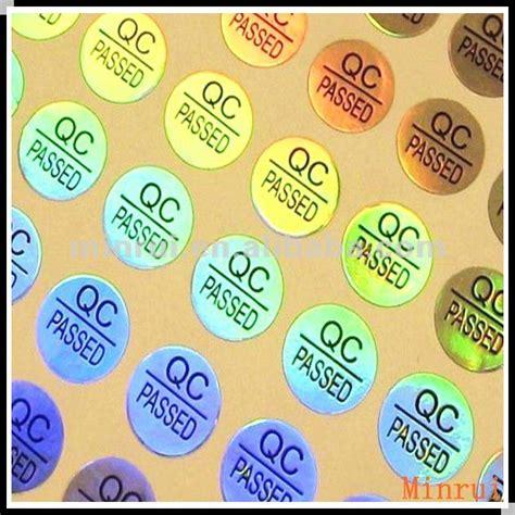Inspected Ok Sticker Stiker Inspected qc pass hologram sticker laser qc sticker