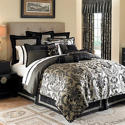 gold and black bedding waterford 174 ormonde bedding ensemble in black and gold