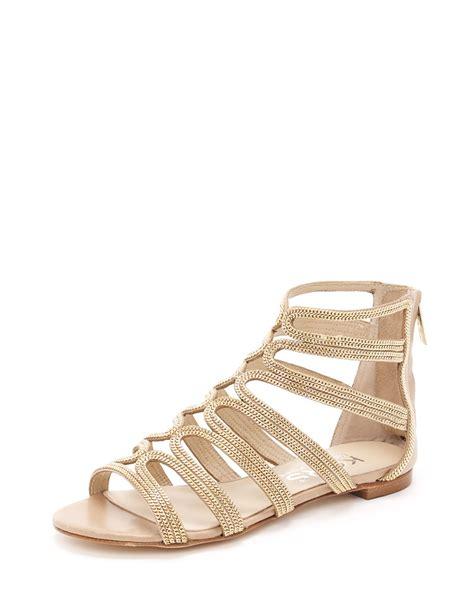 michael michael kors sandals kors by michael kors jersey gladiator sandal in beige