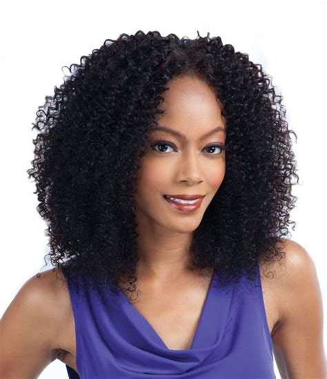 hairstyleswith bohemian kinky curly hair on african american women freetress weave bohemian curl 5 pcs 1 pack complete