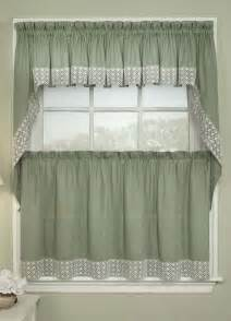 Country Curtains Com Salem Kitchen Curtains Sage Lorraine Jabot Amp Swag
