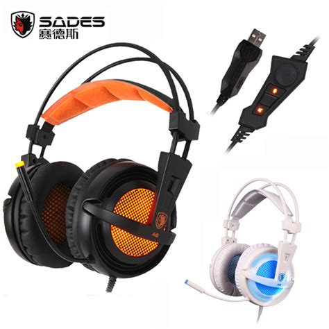 Headphone Model Gaming With Microphone Sn 281m aliexpress buy sades a6 usb 7 1 surround sound usb stereo gaming headphones ear noise
