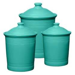Colored Kitchen Canisters by Fiesta Turquoise Canisters 62 00 Kitchen Tools