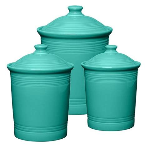turquoise kitchen canisters fiesta turquoise canisters 62 00 hot kitchen tools