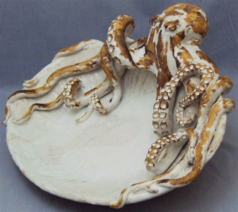octopi home perfect octopus home decor on octopus platter ceramic sculpture beach decor coastal home decor