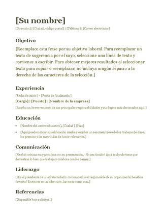 Plantilla Curriculum Para Abogado Curr 237 Culos Y Cartas De Presentaci 243 N Office