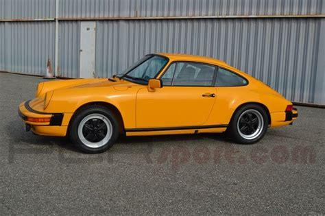 porsche signal yellow signal yellow 1980 porsche 911sc coupe 1 of 1 german