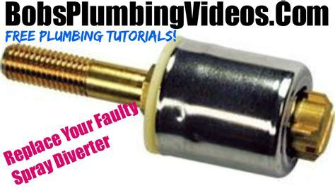 How To Replace a Kitchen Spray Diverter or Hose   YouTube