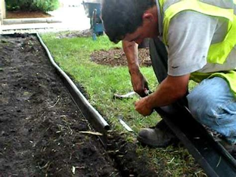 Install Plastic Landscape Edging The Lawn Ranger Edging Installation