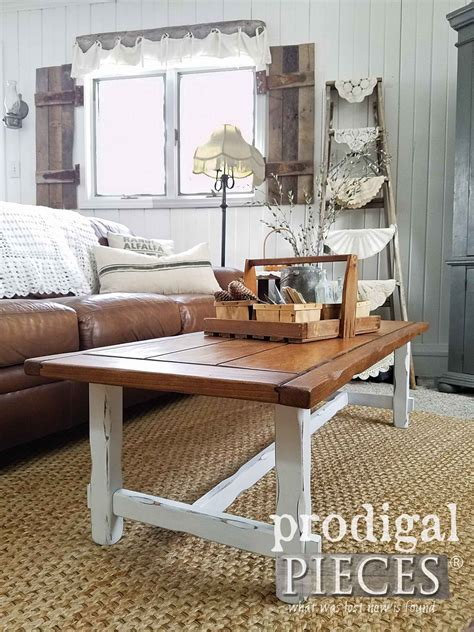 farmhouse coffee table farmhouse coffee table diy your decor prodigal pieces