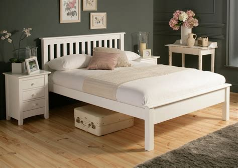 White Wooden King Size Bed Frame Shaker White Wooden King Size Bed Frame Lfe Painted Wood Wooden Beds Beds
