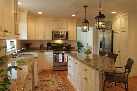 custom white kitchen cabinets stone wood design center tan granite countertops something like this but with