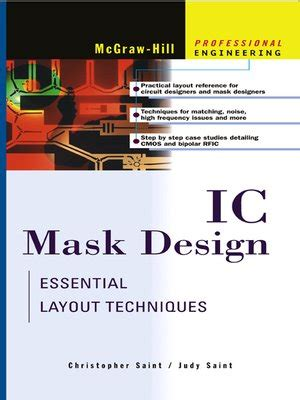 Mask Layout Engineer | ic mask design by christopher saint 183 overdrive ebooks