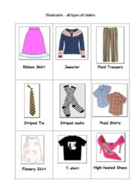 pattern of clothes in english english worksheet flashcards clothes material and