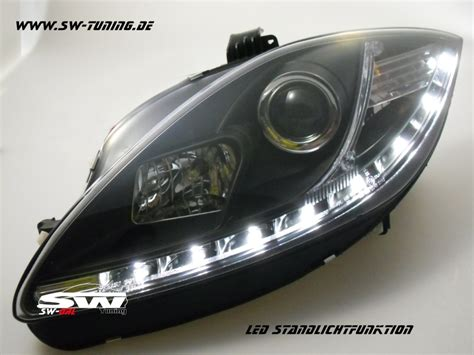 led len kaufen sw drl headlights seat 1p1 09 13 led drl r87 black