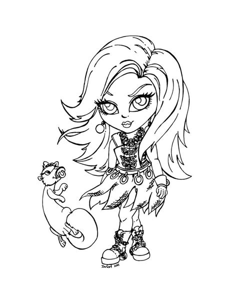 free coloring pages of monster high baby torali