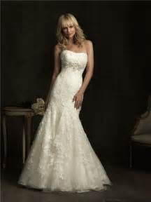 fitted wedding dresses slim fitted mermaid strapless empire waist ivory lace wedding dress