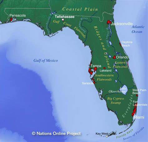 florida in usa map reference maps of florida usa nations project