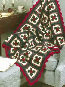 Crochet granny square christmas granny afghan