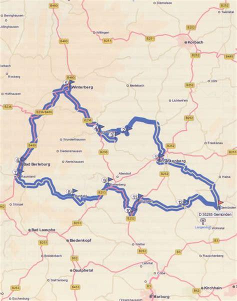 Motorradtouren Hessen motorradtour 1