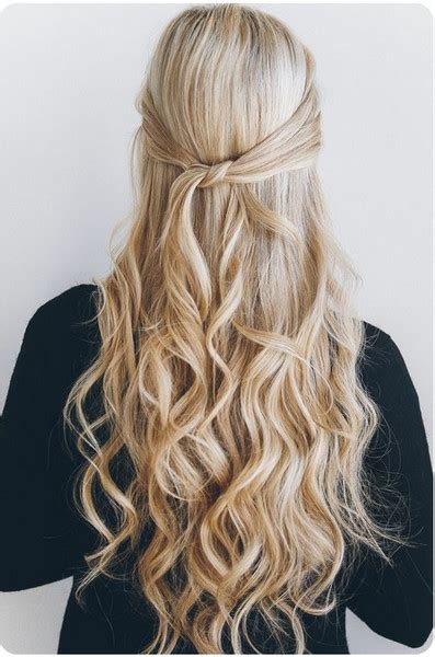 easy hairstyles you can do in 5 minutes one minute knotted half up easy hairstyles you can do in
