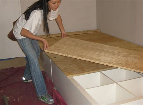Diy Platform Bed Using Shelves 8 Diy Storage Beds To Add Space And Organization To