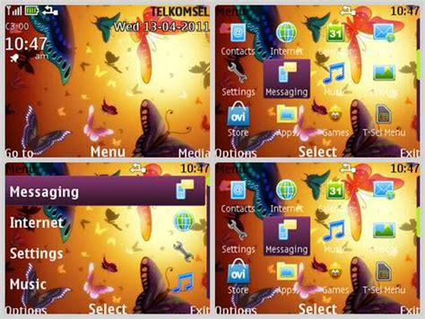 themes for nokia asha 210 320x240 new butterfly theme for nokia c3 00 320x240 s406th asha